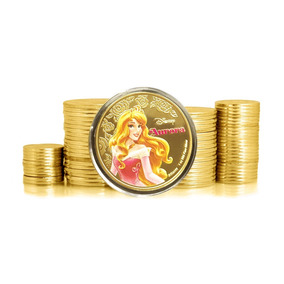 New Zealand Princesa Aurora 2018 Banhada A Ouro Fc * C O L *