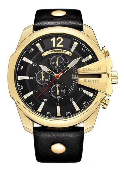 Relógio Masculino Pulso Curren 8176 Original Prova D