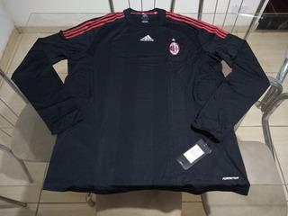 Camisa Oficial Manga Longa adidas Time Futebol Milan Itália