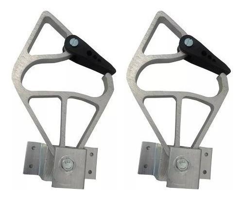 Par De Catraca D Em Aluminio Para Escada Extensivel