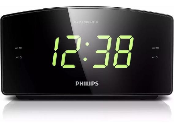 Radio Relogio Digital Philips Aj3400 Bivolt Original Lacrado