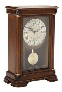 Repisa De La Chimenea Seiko Con Reloj De Pendulo Caja De Ali