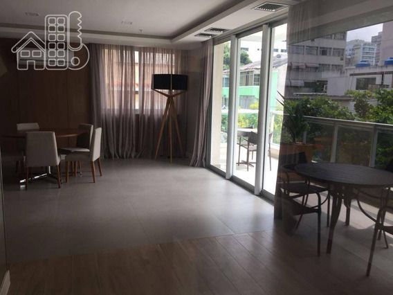 Apartamento Com 3 Dormitórios À Venda, 120 M² Por R$ 1.100.000 - Icaraí - Niterói/rj - Ap1417