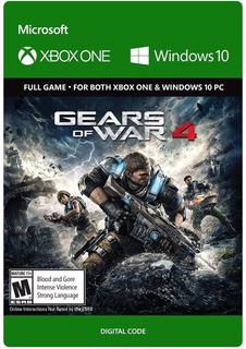 Gears Of War 4 - Key Xbox One Y Win 10 / Entrega Inmediata