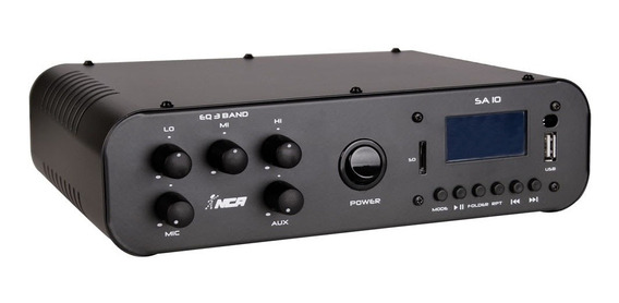 Amplificador/misturador De Áudio Nca Lláudio Sa10 Bluetooth