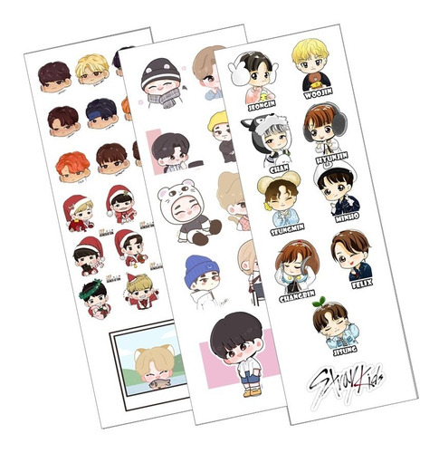 Plancha De Stickers De K-pop Stray Kids