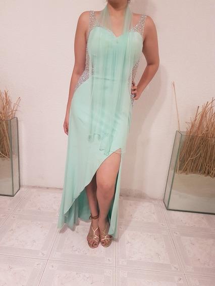 Vestido Aqua Vaporoso, Hermoso