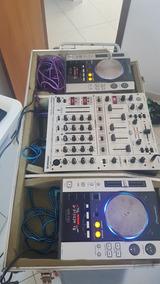 Par De Cdj 200 Pioneer + Mixer Behringer Djx 700 + Case
