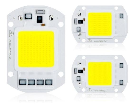 Kit 10 Chip Led 50w 6000k Inteligente Funciona Sem Reator