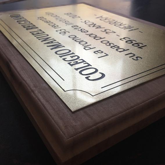 Placa De Bronce Recordatoria, Homenaje, Aniversario, 60x30cm