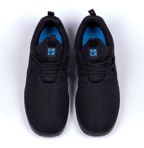 Tênis Hocks Gala Black Blue Cadarço Adicional + Frete Grátis