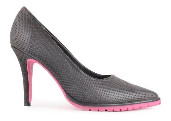 Zapatos Stiletto De Mujer Cuero Taco Alto Cara - Ferraro -