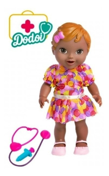 Boneca Bebe Baby Dodoi Negra My Little Alive - Super Toys