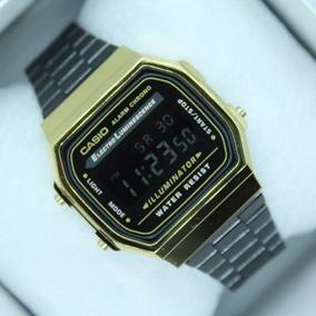 3852bd280 Casio Dorado A 168 Illuminator - Reloj de Pulsera en Mercado Libre ...