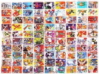 Colección 90 Stickers Liga De La Justicia Nestlé Agüitas2014