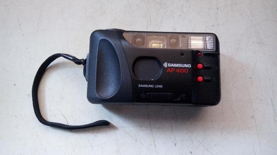 Câmera Samsung 35 Mm Modelo Af-400 P/ Colecionador