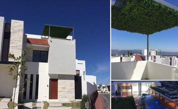 Se Vende Hermosa Casa En Zibata, 4 Habitaciones, Roof Garden, Alberca..