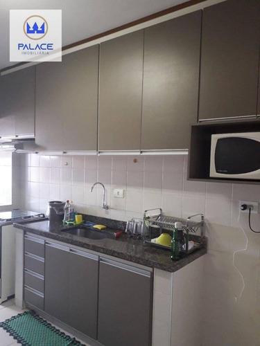 Apartamento Com 3 Dormitórios À Venda, 82 M² Por R$ 320.000,00 - Vila Prudente - Piracicaba/sp - Ap0781