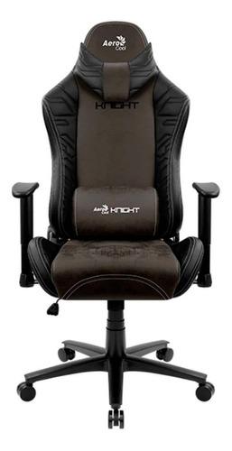 Imagen 1 de 5 de Silla de escritorio AeroCool Knight gamer ergonómica  iron black con tapizado de cuero sintético y gamuza
