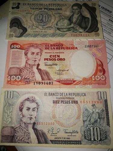 Imagen 1 de 1 de Billetes Antiguos Colombianos