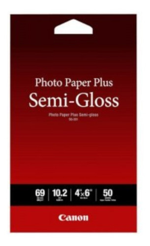 Imagen 1 de 2 de Papel Fotografico Plus Semi Gloss 4 X 6  Canon Sg-201 50 Hoj