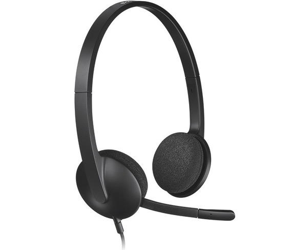 Headset Fone Logitech H340 Usb 2.0 Stereo Windows Mac Pc