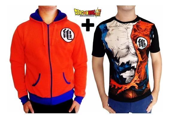 Chamarra Grande + Playera G Promocion Goku Dragon Ball Super