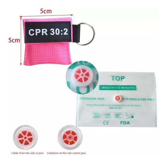 20 Pz Mascarilla Rcp Life Key Barrera Botiquín Paramedico