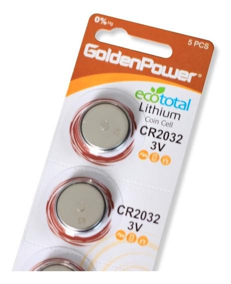 Bateria Lithium Golden Power Cr2032 3v Cartela 5 Unidades