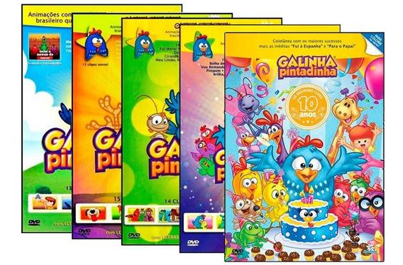 Dvd Galinha Pintadinha 1 2 3 4 10 Anos - Coleção Infantil