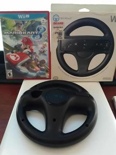 Mario Kart 8 Nintendo Wii U Con Volante Envío Gratis