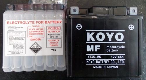 Batería Para Moto Koyo Ytx5l-bs, Todos Los. Modelos