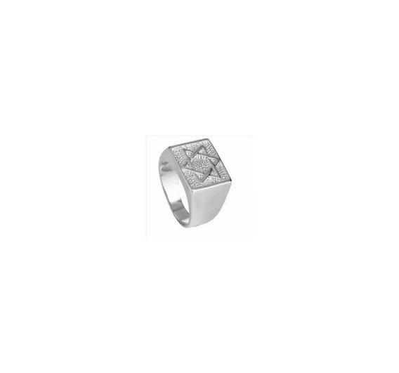 Anel Estrela De Davi Em Prata 950