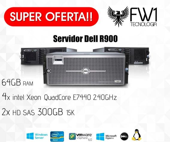 Servidor Dell Poweredge R900 4x Quad Core 2.4 Ghz 64gb 600hd