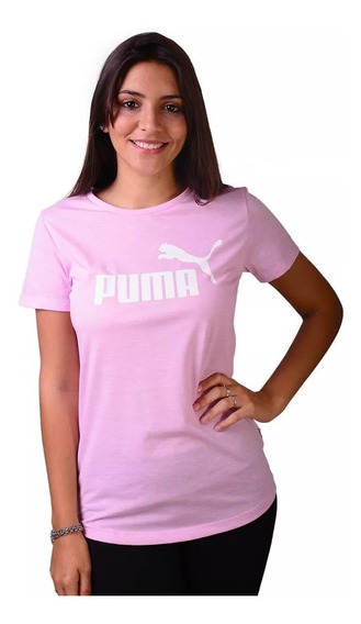 Puma Remera M/corta Lifestyle Mujer Essent Heather Rosa Fkr