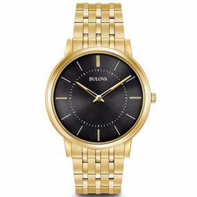 Relógio Bulova Masculino Classico Dourado - Wb22436u - Nfe