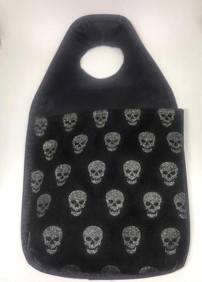 Porta Lixo Para Carro Lixinho Skull Caveira