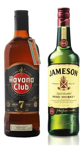 Kit Rum Havana Club Rum 7 Anos 750ml + Whiskey Jameson 750ml