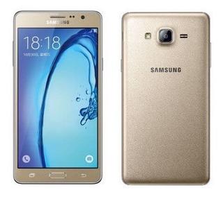 Celular Samsung Galaxy On7 Gold + Case De Silicona