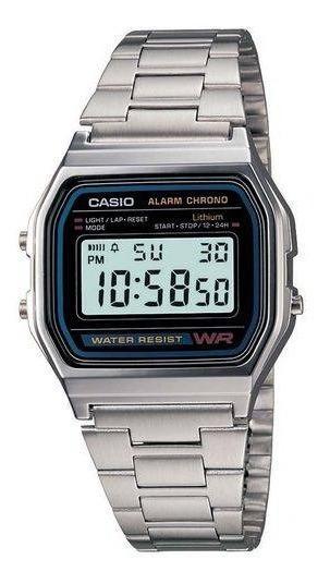 Relógio Casio Vintage Digital Prata A158wa-1df