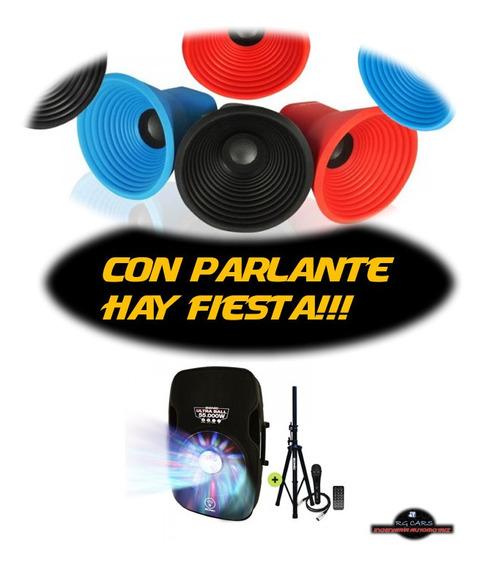 Parlante 15 Bp Microfono + Bateria + Remoto + Pedestal