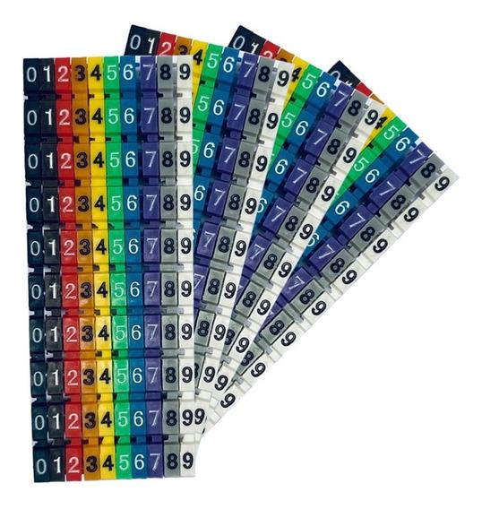 Anilha Para Identificação De Cabos De 0 A 9 Colorida C/100pç