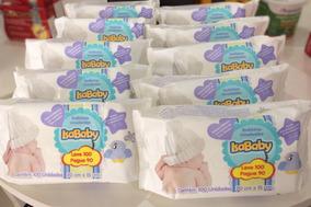 Kit Com 10 Lenços Umedecidos Isababy 100 Unidades 20cmx15cm