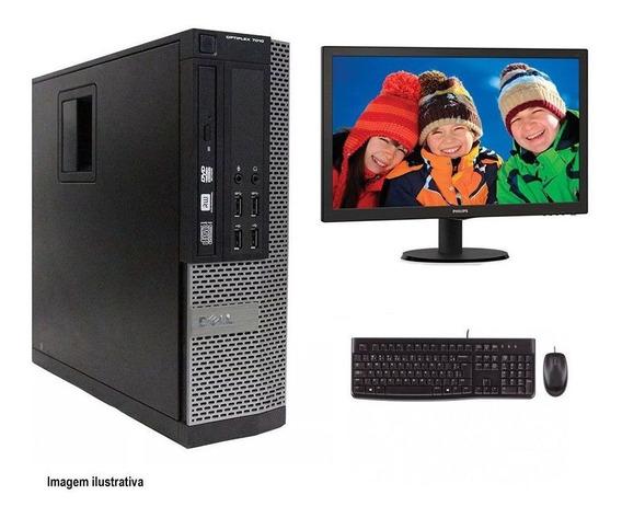Computador Desktop Dell 7010 I7 4gb 240ssd Monitor 21