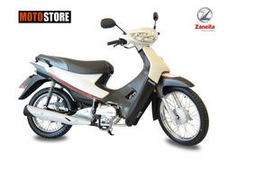 Moto Zb 110cc Con Arranque Electrico Blanco Zanella 0km 2017