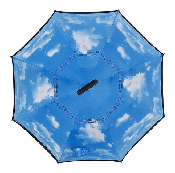 Paraguas Sombrilla Manos Libres Diseño Invertido Con Doble Forro Varios Diseños Y Colores