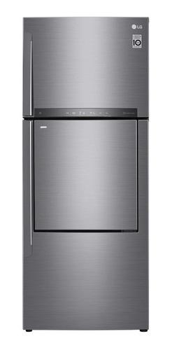 Imagen 1 de 7 de Heladera inverter no frost LG GC-D502HLAM silver con freezer 441L 220V