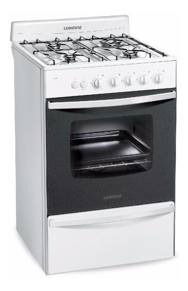 Cocina Longvie 13331bf Multigas 56cm Blanca 6 Cuotas12cts