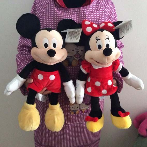 Pelúcia Disney Mickey Mouse + Minnie Lindo Original