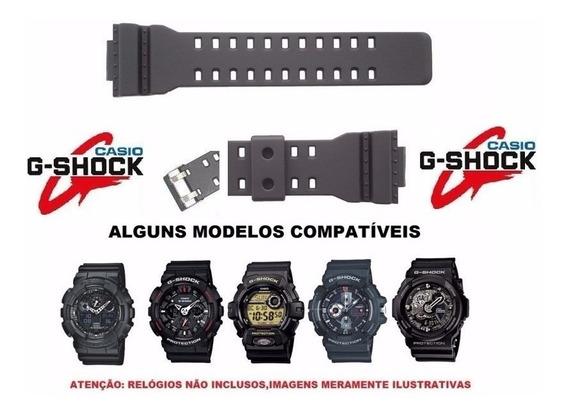 Pulseira Relógio Casio G-shock Ga100 Ga-110 Ga-120 Gd-100 + Piinos